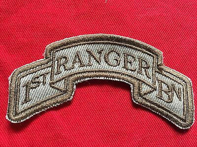 US Army 75th Ranger Regiment 1st BN Tab desert OIF OEF