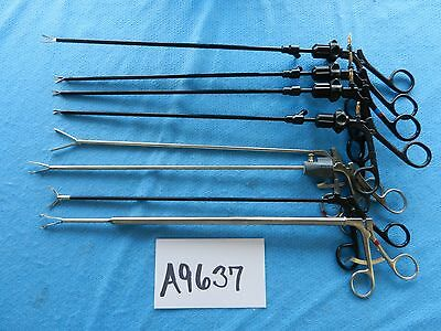 Jarit Storz V. Mueller Surgical Laparoscopic Scissors & Graspers Lot Of 8