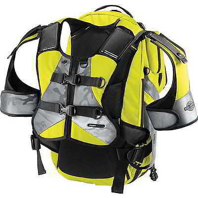 Icon Squad II 2 Motorcyle Backpack Bag-Hi-Viz Yellow