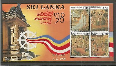 Sri Lanka 1998 Vesak Minisheet Sg,ms1399 U/mm Nh Lot 3377A