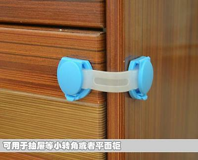 9cm Pure Color Baby Safe Latch Lock for Cupboard Wardrobe Fridge Door AUK