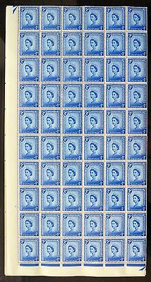 GB Isle of MAN Wilding 1958/68 - 4d Ordinary Complete Sheet of 240 NB695