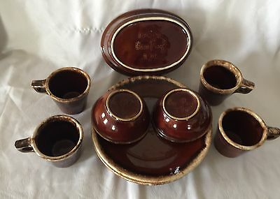 Lot of Vintage H.P. CO USA Hull Pottery Brown Drip  Oven Proof 11 pieces