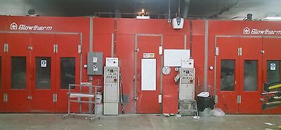 Set of 2 Upgraded Automotive Paint Spray Booths with Integrated Mixing Room