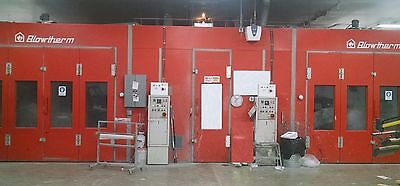 Upgraded Automotive Paint Spray Booth with  optional Integrated Mixing Room
