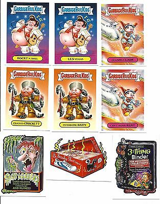 Gpk/wacky Packages 2017 Philly Non Sport Show Complete Set Of 9- W/ 3 Autographs