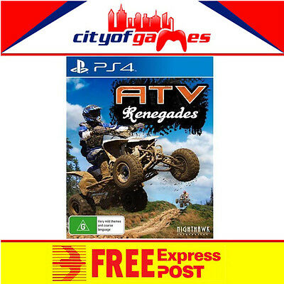 ATV Renegades PS4 New & Sealed Free Express Post In Stock