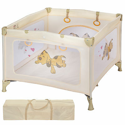 Portable Child Baby Infant Playpen Travel Cot Bed Crawl Play Area new beige