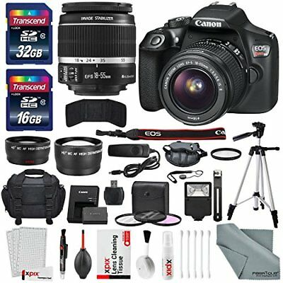 Canon EOS Rebel T6 DSLR Camera with EF-S 18-55mm f/3.5-5.6 IS II Lens, Along ...
