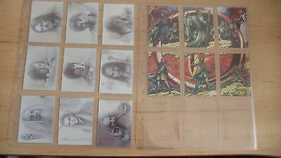 The Lord Of The Rings Masterpieces : 6 Etched-Foil & 9 Foil Art Cards - Topps