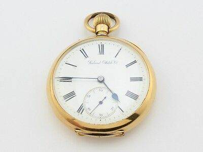 Seeland Watch Co Vintage Pocket Watch 18K Gold 48976