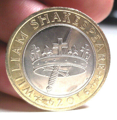 Collectable2016 William Shakespeare History's Crown and Dagger £2 Two Pound Coin