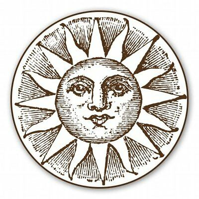 Sun Vintage Graphic Illustration Car Vinyl Sticker - SELECT SIZE
