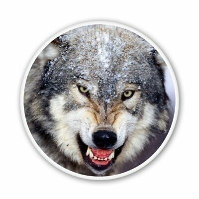 Wolf Car Vinyl Sticker - SELECT SIZE