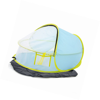 Instant portable travel crib baby tent bed play tent for babies light blue Shade