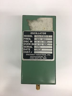 Oscillator 100MHz +15 VDC Greenray Industries YH-1202-1 16681 TESTED