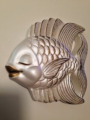 Vintage Miller Studios (c) 1954 Kissing Fish Wall decor Chalkware