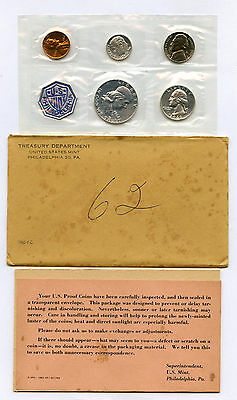 1962 US Proof Set In Original Envelope With COA and Some Writing On Envelope