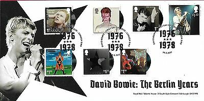 Gb 2017 David Bowie 'the Berlin Years' Full Set Official Fdc - Very Rare