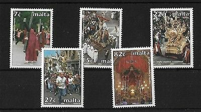 Malta Sg1477/81, 2006 Holy Week, Mnh