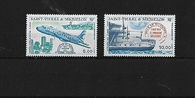 St Pierre Sg592/3, 1987 Air Mnh,  Cat £10+