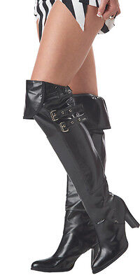 Brand New Pirate Deluxe Boot Covers Adult Costume Accessory Shoes