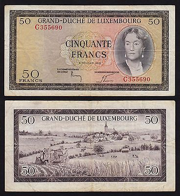 Luxemburg - Luxembourg 50 Francs Banknote 1961 Pick 51 - F/VF   (16268