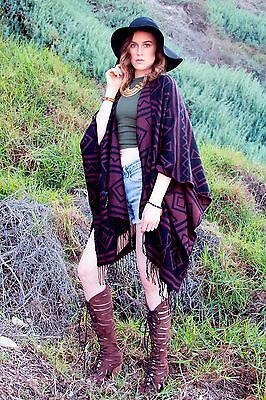 Lot of 5 Brown and Black Aztec Pattern Drape Kimono style Cardigans for resale