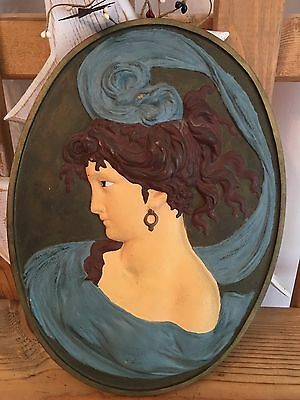 $SALE$ Beautiful Antique Bradley & Hubbard Art Nouveau Cast Iron Wall Plaque