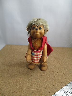 Vintage Steiff Mucki Hedgehog Red Dress No Label Germany Older piece see pics