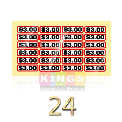 24PK GLOSSY SLIDE DECAL $3.00 For GREENWALD  Wascomat, Ipso, Huebsch, 00-9104-37
