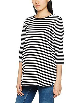 Dorothy Perkins Maternity Stripe Sweat, Blusa Premaman Donna, Black (Monochrome