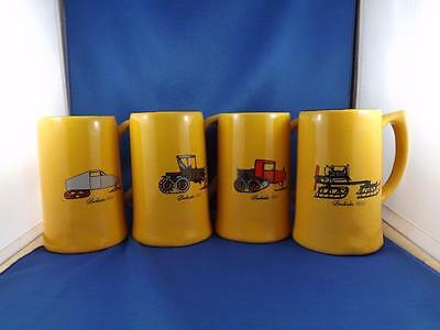 Bombardier Beer Steins Lot Of 4 Snow Machines 1922 1927 1935 1937 Canada Pottery