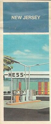 1971 HESS OIL Service Station Road Map NEW JERSEY Woodbridge Refinery Camden NYC