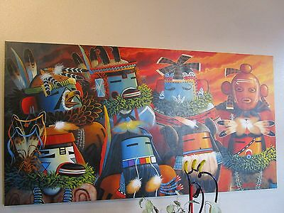 Navajo Painting 3FT. X 5 FT. Jackie Black