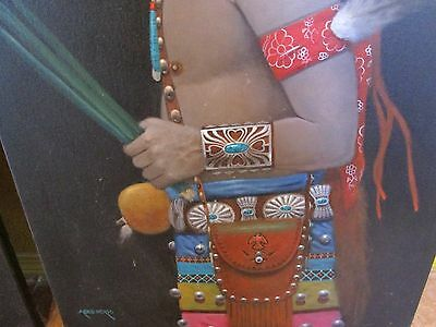 Navajo Paintings on canvas by: Adesiderio (two) 24x36 inches