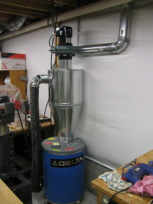 Cyclone Separator - 4 inch inlet on right, made from galvanized steel