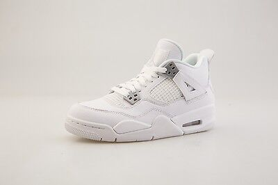 "408452-100 Big Kids Air Jordan IV 4 Retro GS ""Pure Money"" White Metallic Silver"
