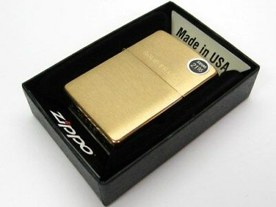 ZIPPO Full Size BRUSHED BRASS w/ SOLID Brass Engraved Lid Classic Lighter! 204