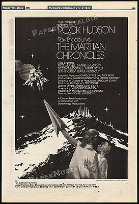 THE MARTIAN CHRONICLES__Original 1979 Trade print AD promo / poster__ROCK HUDSON