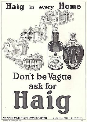 1937 Print Ad Haig Gold Label  Dimple Scotch Whisky In Every Home