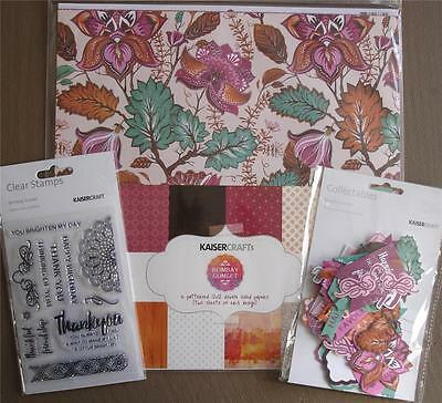 "Bulk Lot ~ BOMBAY SUNSET ~ 12 Papers + Stickers + Stamp Set + Die Cuts 12""x12"""