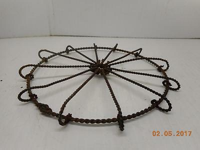 "Antique / Vintage 6"" Round  Wire Form Trivet 1800'S"