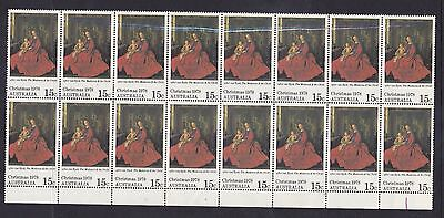 BD338) Australia 1978 15c Christmas block of 16 ( 8 x 2) mint unhinged