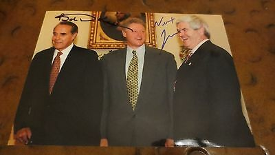 Newt Gingrich & Bob Dole dual signed autographed photo Contract w/ America