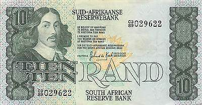 South Africa 10 Rand  ND. 19801 P 120b Prefix C3/89 circulated Banknote G. A4