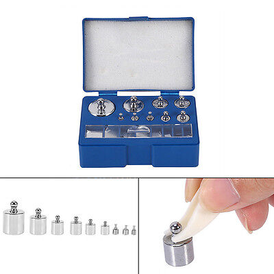 17Pc 10mg-100g 2x20mg Grams Precision Calibration Weight Digital Jewelry Scals+