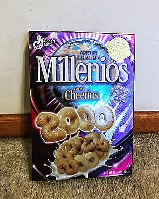 General Mills Cheerios Millenios Y2K RARE Collectible Cereal Box UNOPENED NEW
