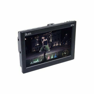 """New ikan7"""" D7w-S 3G-SDI/HDMI Field Monitor with Waveform & Sony L Battery Plate"""