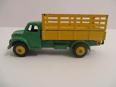 Dinky 343 Farm Produce Wagon in Yellow/Green with Diecast Hubs